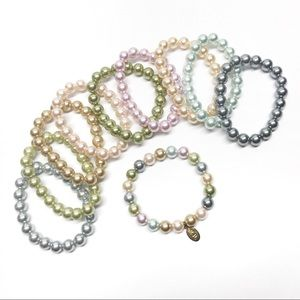 🆕 Kenneth Jay Lane QVC Pearl Stack Bracelets